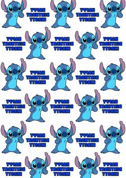 Disney Stitch Personalised Gift Wrap - Lilo and Stitch Wrapp