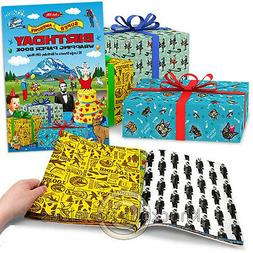 Super Awesome Birthday Wrapping Paper Book Wrap Party Gift P