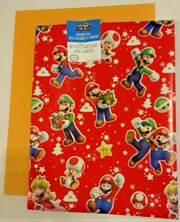 Super Mario Christmas Gift Wrap Wrapping Paper 20 sq. ft.