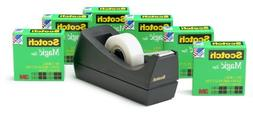 "Tape Dispenser, w/6 Rolls, 1"" Core 3/4""x1000""Tape, 6/PK, BLK"