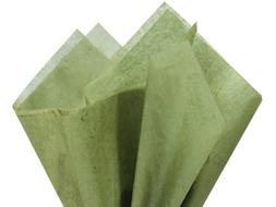 """Tapestry Olive Green Gift Wrap Tissue Paper 20"""" X 30"""" - 48 S"""