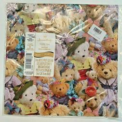 Hallmark Teddy Bear Gift Wrap Wrapping Paper 2 sheets 8 1/3