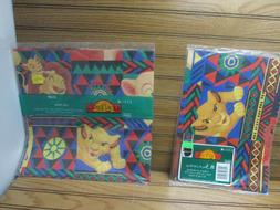 The Lion King Gift Wrapping Paper Disney 2 Pkgs 4 Sheets Cle