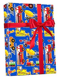 Trucks Construction Airplanes Gift Wrap Wrapping Paper - 15