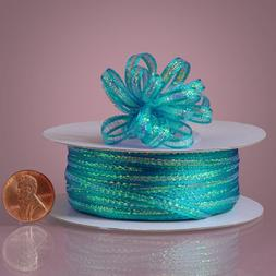 """Turquoise Mini Pull String Bows, 1/8"""" X 50yd"""