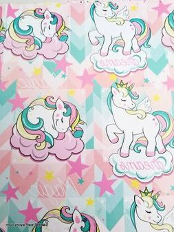 UNICORN BABY MAGIC Wrapping Paper Gift Book Cover Party Wrap