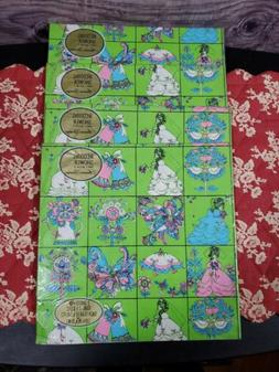 Vintage American Greetings Gift Wrap, Wrapping Paper BIRTHDA