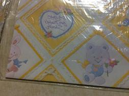 Vintage American Greetings Wrapping Paper Gift Wrap Baby Sho