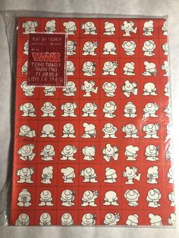 Vintage American Greetings Ziggy Red Gift Wrapping Paper NIP