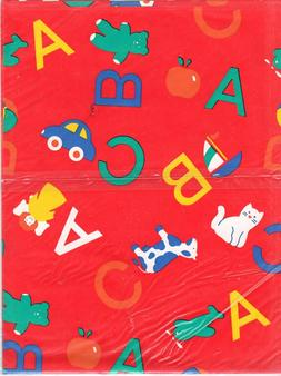 Vintage Baby Shower ABC Gift Wrap Boy Bi
