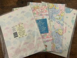 Vintage Baby Shower Gift wrap Wrapping Paper  sheets LOT of
