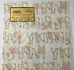 Vintage Betsey Clark Precious Moments Gift Wrap Birthday Wra