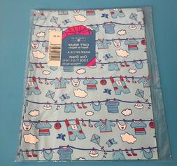 Vintage Boys Paper American Greetings Forget Me Not Gift Wra