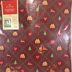 Vintage Hallmark Christmas Gift Wrap Wrapping Paper Hearts,