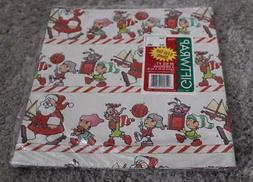 Vintage CPS CHRISTMAS SANTA Gift Wrap Wrapping Paper Sheets