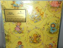 """VINTAGE EASTER WRAPPING PAPER, 1 SHEET 20"""" x 30"""", UNUSED IN"""