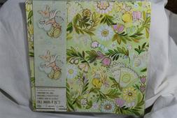 Vintage American Greetings flat wrap with gift tags floral f