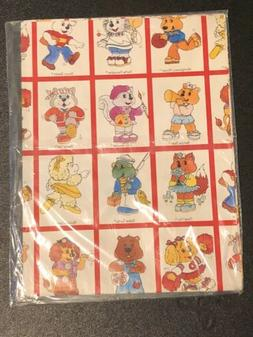 Vintage Get Along Gang Wrapping Paper 80s American Greetings