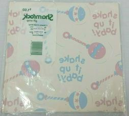Vintage Gift Wrap Baby Shower Wrapping Paper Shake It Up Rat