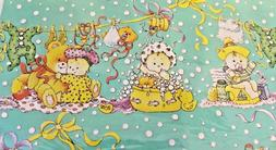 Vintage Gift Wrap Wrapping paper Baby Flomo Unlimited 3 shee