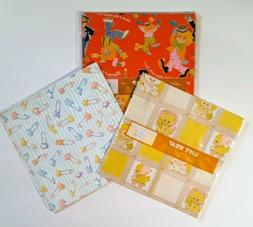 Vintage GIFT WRAP WRAPPING PAPER BABY INFANT JUVENILE SAFTY