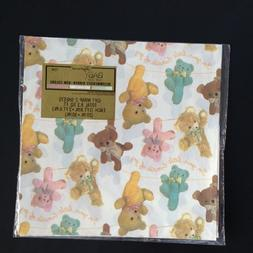 Vintage American Greetings Gift Wrap Wrapping Paper BABY SHO