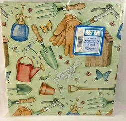 Vintage Gift Wrap Wrapping Paper Gardening Stephen Lawrence