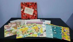 Vintage Gift Wrap Wrapping Paper Lot Assorted Floral Baby No