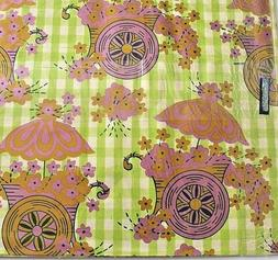Vintage Gift Wrap Wrapping paper Mod Bold pink Green 70's Se