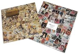 Vintage Gift Wrapping Paper Current Postage Stamps & Hallmar