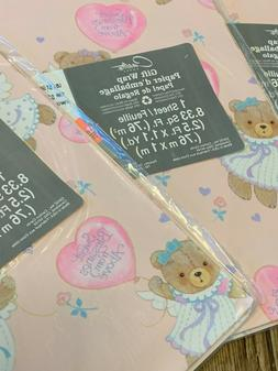 Vintage Hallmark Carlton Gift Wrapping Wrap Paper ANGEL BABY