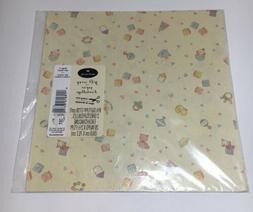 Vintage Hallmark Gift Wrap Baby Wrapping Paper 2 Sheets New