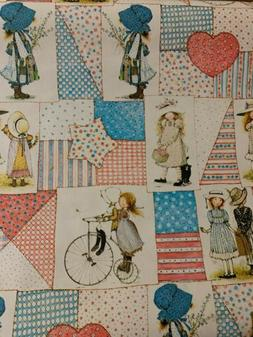 Vintage Holly Hobbie American Greetings Wrapping Paper 20sq