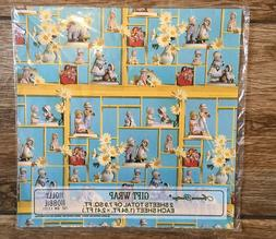 Vintage Holly Hobbie Gift Wrap AMERICAN GREETINGS Wrapping P