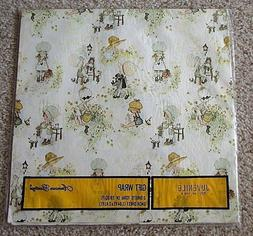 Vintage Holly Hobbie Shower Gift Wrap Wrapping Paper America