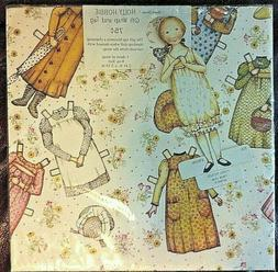 Vintage Holly Hobbie Stand-Up Paper Doll w/ 1 Sheet Wrapping