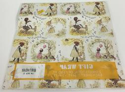 Vintage Laurel American Greetings Gift Wrap Old-Fashioned Gi