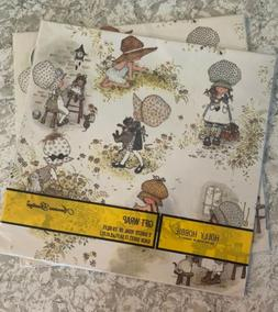 American Greetings Vintage Lot of 2 Holly Hobbie Gift Wrap N
