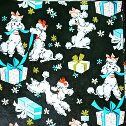 Vintage Poodle Gift Wrap Wrapping Paper ~ FRENCH POODLE Dogs