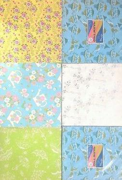Vintage Wrapping Paper 8 Sheets Shower Baby Boy Birthday Gif