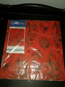Vintage Hallmark Wrapping Paper Valentines Wrap and Cards Ne