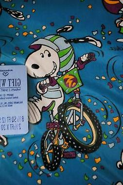 Vtg 1950s Peanuts Snoopy Hallmark Gift Wrapping Paper 4 Shee