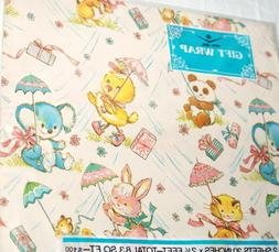 vtg gift wrap lot 2 wrapping paper