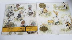 Vtg Holly Hobbie Gift Wrap Wrapping Paper American Greeting