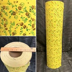 Vtg NOS 70s Floral Print Wrapping Paper Department Store Rol
