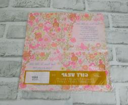 VTG Wrapping Paper Gift Wrap Baby Shower Girls Thank Heaven