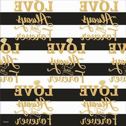 WEDDING Love Always and Forever JUMBO ROLL OF GIFT WRAP ~ Br