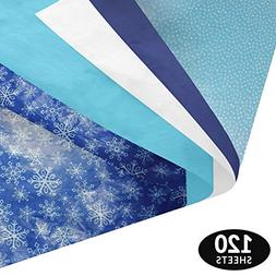 Winter Gift Wrapping Tissue Paper Set - 120 Sheets - Pattern
