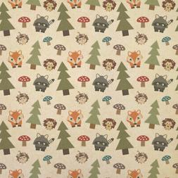 Woodland Animals Kraft Present Gift Wrap Wrapping Paper