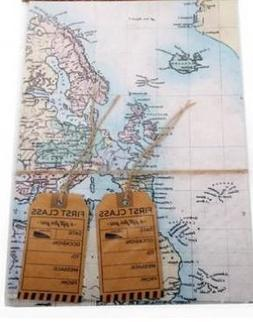 Concept4u World Map Design Gift Wrap Wrapping & Tags Present